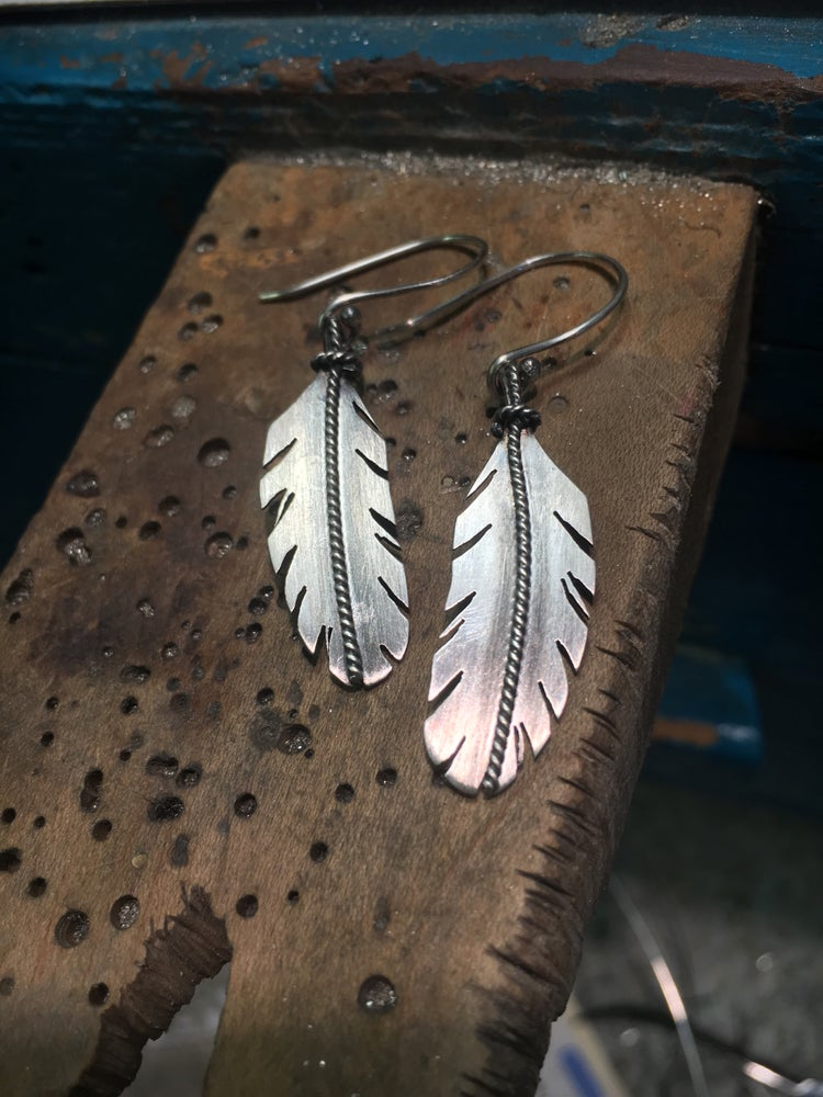 "Image of Sterling Silver Feather ""minis"""