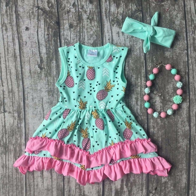 Image of Pineapple Ruffle Dress