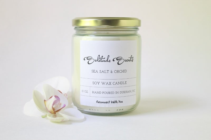 Image of 13 oz. Sea Salt & Orchid Soy Wax Candle