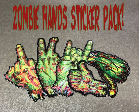 Image of Zombie Hands Sticker Packs!