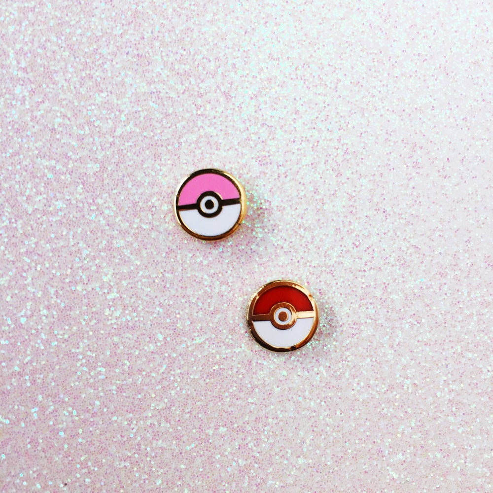Image of Poké Ball Earrings