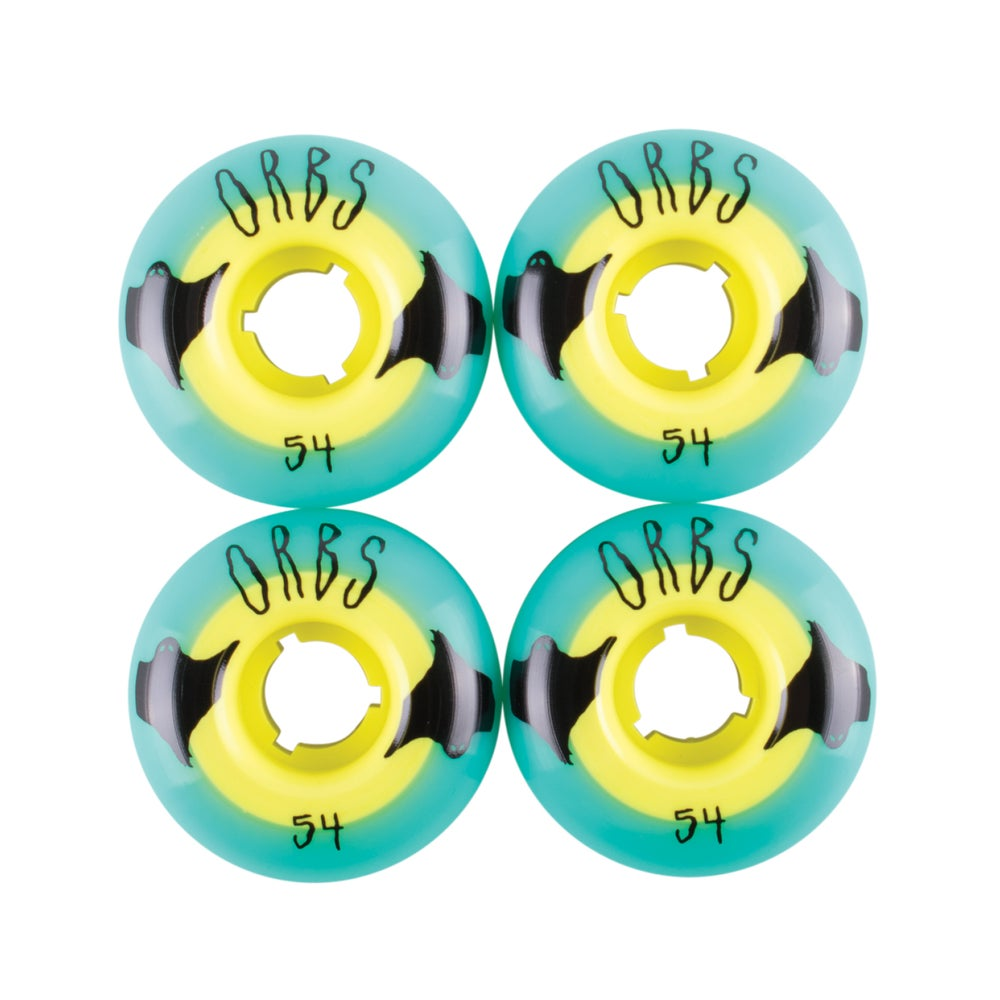 Image of Poltergeists - 54MM - Teal/Yellow