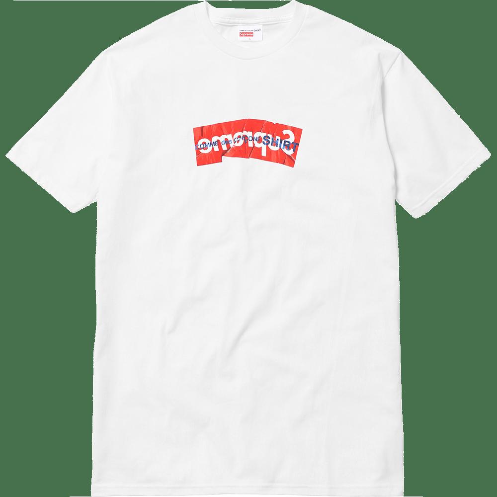 Image of Supreme x Comme De Garcon Tee - White