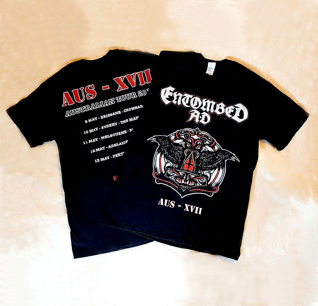Image of T'SHIRT - Entombed AD Australian Tour 2017