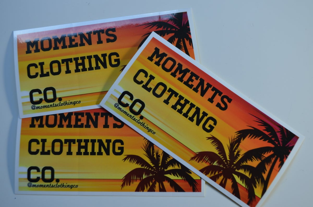 Image of Moments Clothing Co Stickers (3)