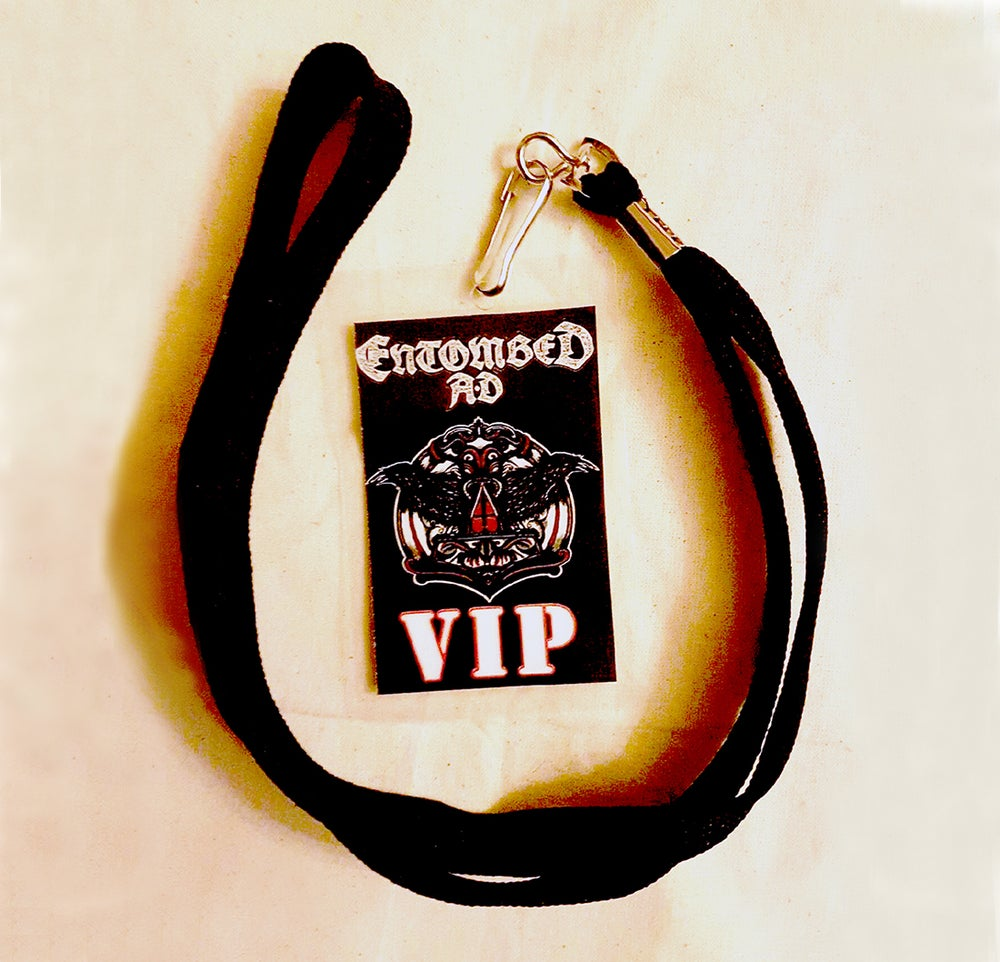 Image of VIP LAMINATE - Entombed AD Australian Tour 2017