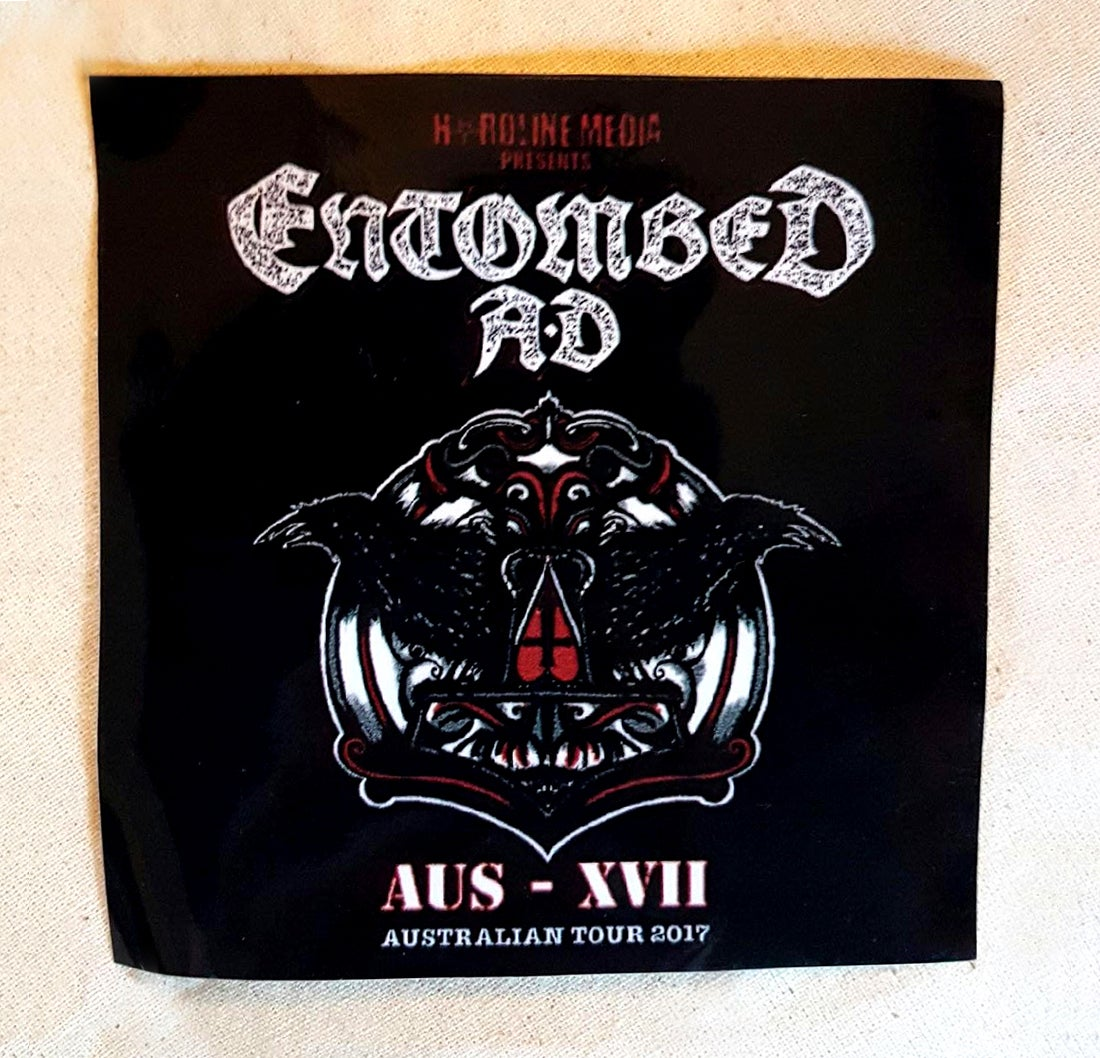 Image of STICKER (Poster Art) - Entombed AD Australian Tour 2017