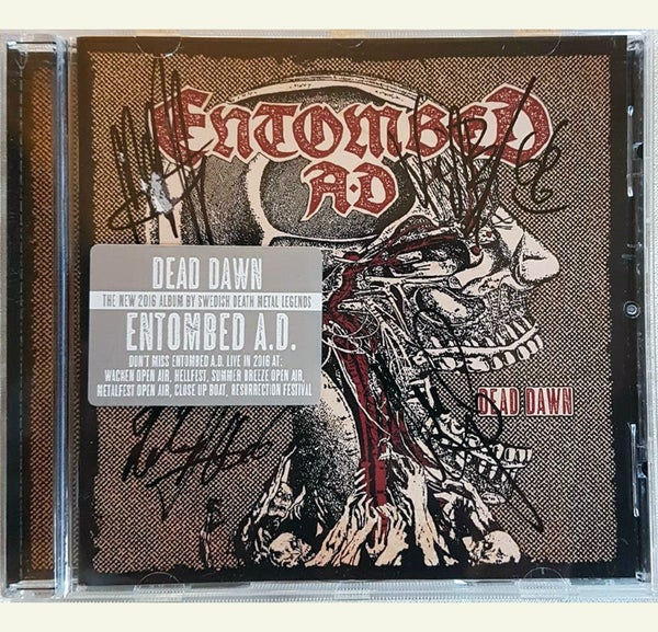 Image of CD (SIGNED) - Entombed AD 'Dead Dawn'