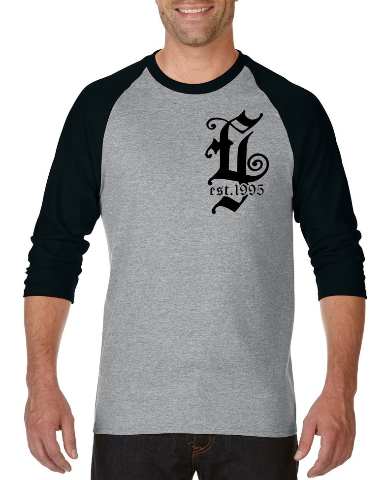 Image of Evergrey Black / Grey Raglan