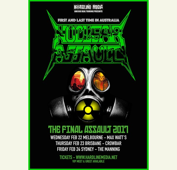 Image of POSTER (UNSIGNED) - Nuclear Assault Australian Tour 2007