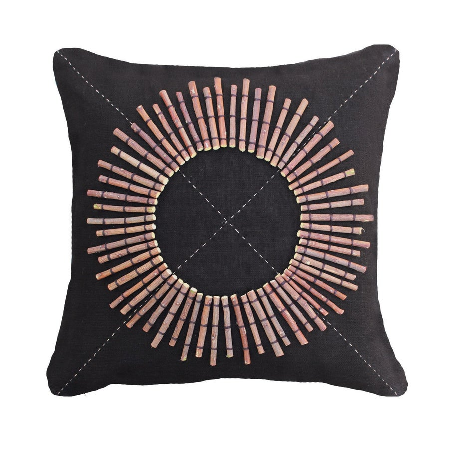 Image of Tribal Round Shield Cushion