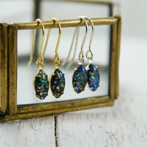 Image of Sitha - Black Fire Opal Earrings