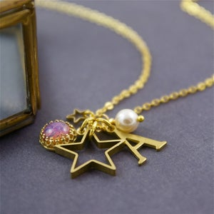 Image of Twinkle Twinkle - Personalised Star Charm Necklace