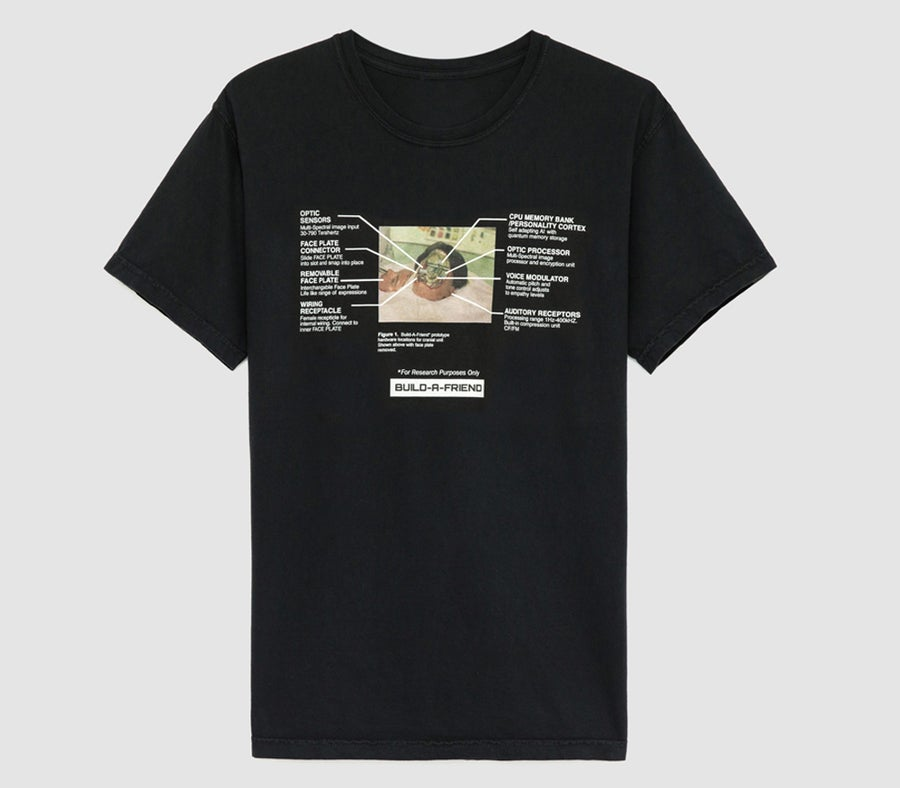 Image of Removable Face Plate Tee (Black)