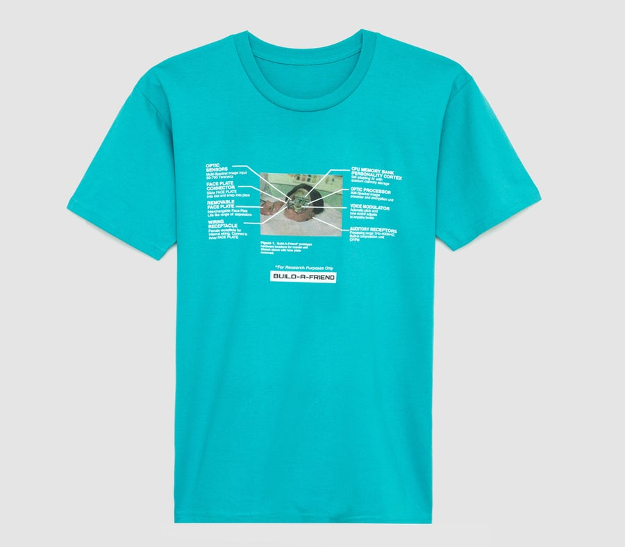 Image of Removable Face Plate Tee (Turquoise)