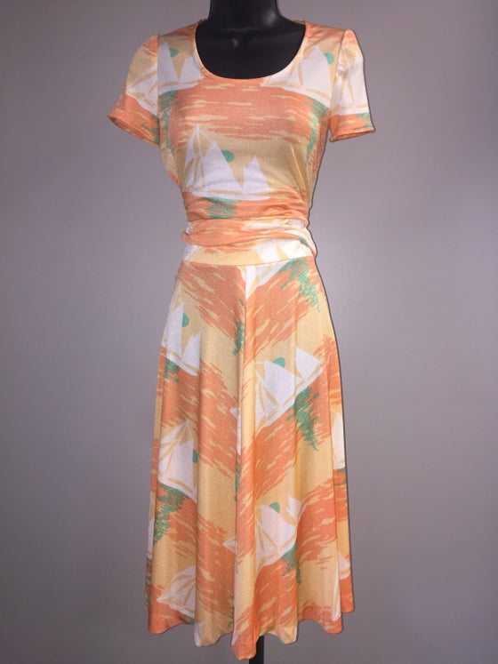 Image of VTG BRILLIANT SCENIC POLY TOP SKIRT SET S/M