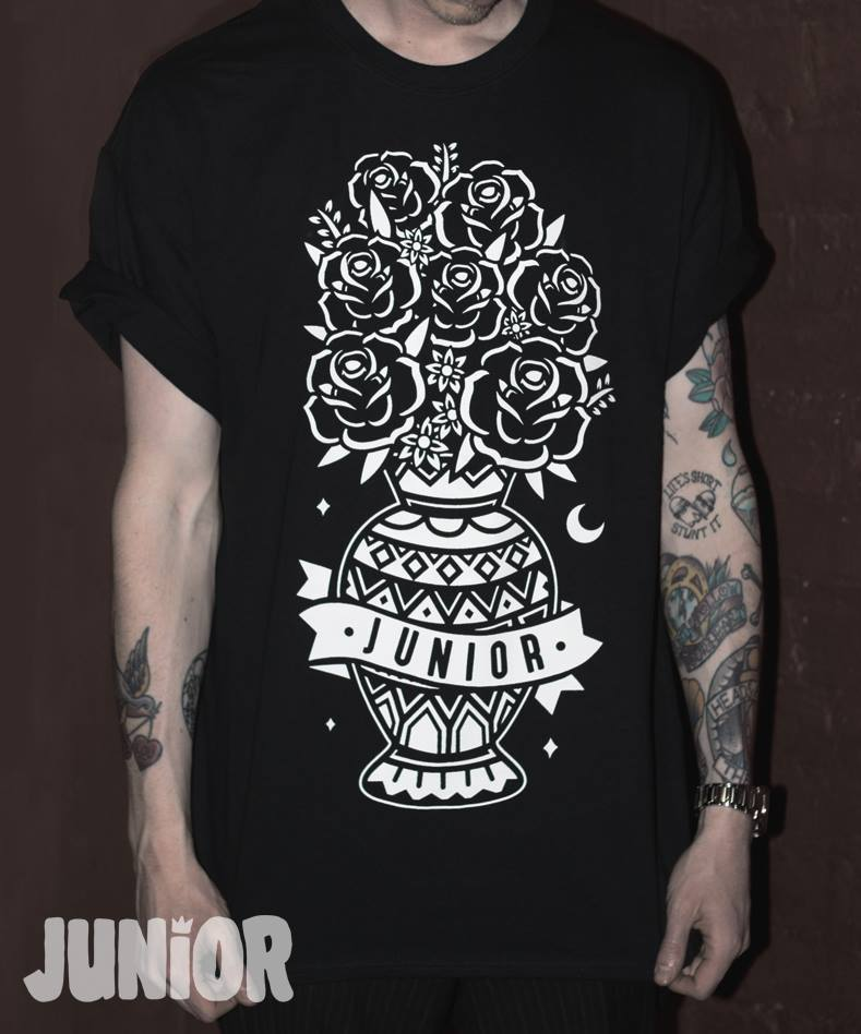 Image of Black Flowers Tee