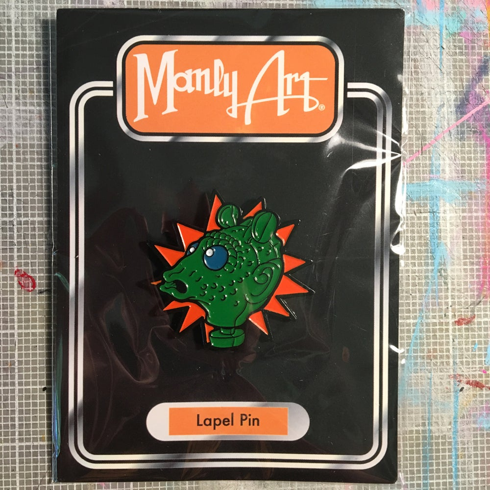 Image of Greedo Action Figure Head Enamel Pin