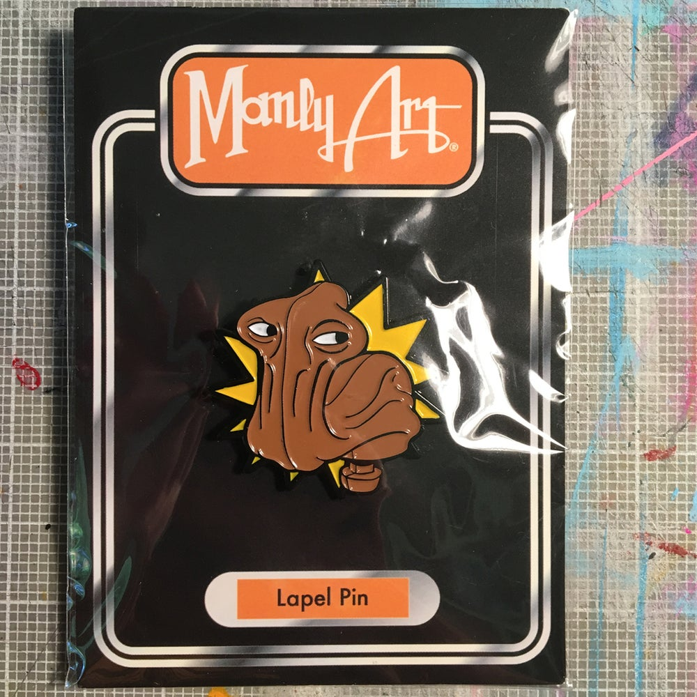 Image of Hammerhead Action Figure Head Enamel Pin