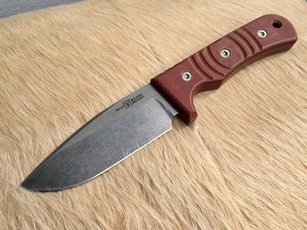 Image of Basic Field Knife Brown Micarta, Becut
