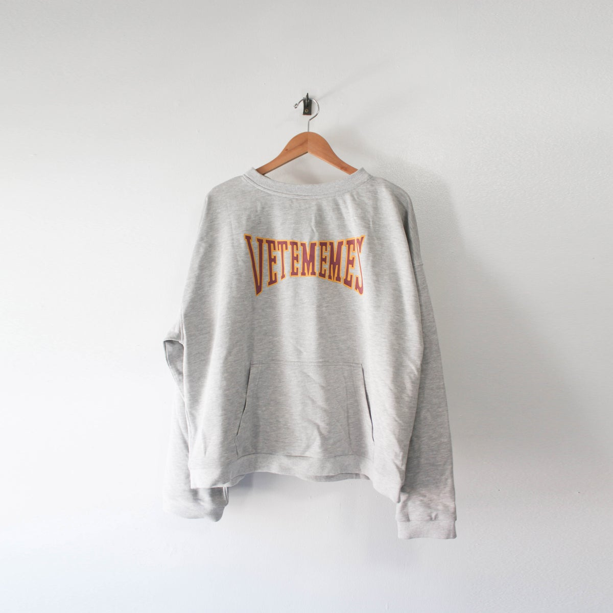 Image of Grey Cropped Varsity Hoodie