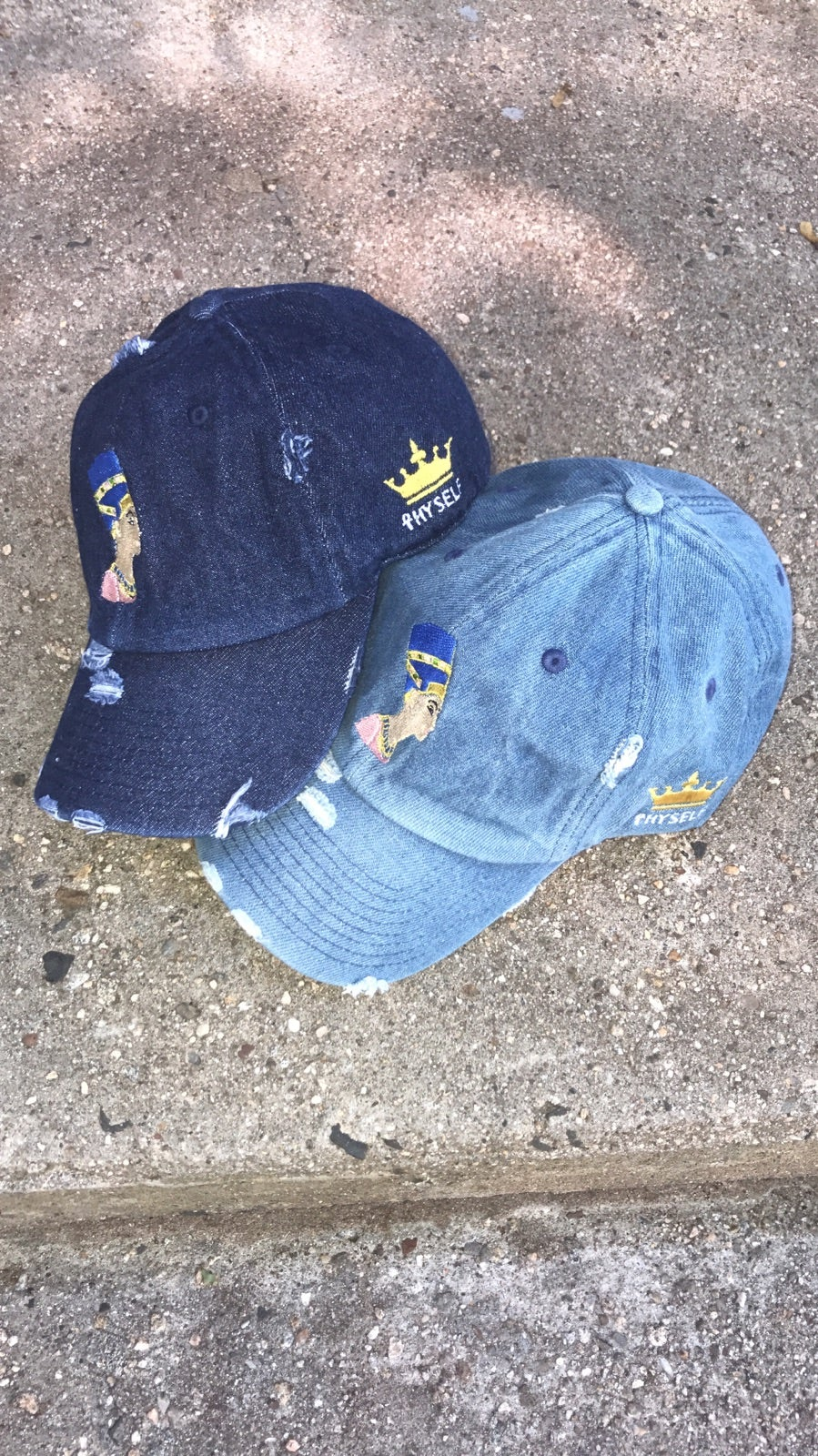 Image of Light Denim Queen Nefertiti dad hat