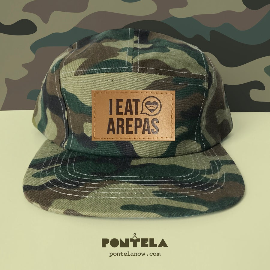 Image of I Eat Arepas Leather Camo