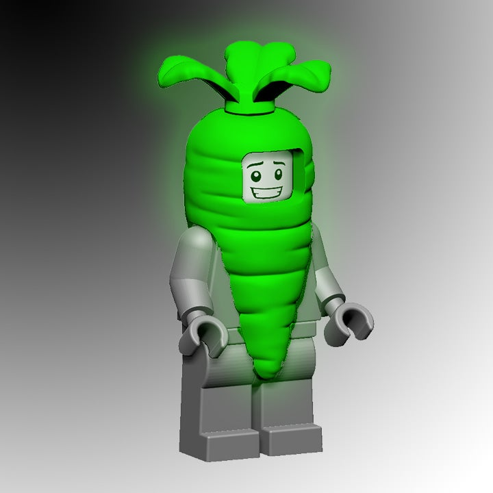 Image of Glow-In-the-Dark Carrot Costume!