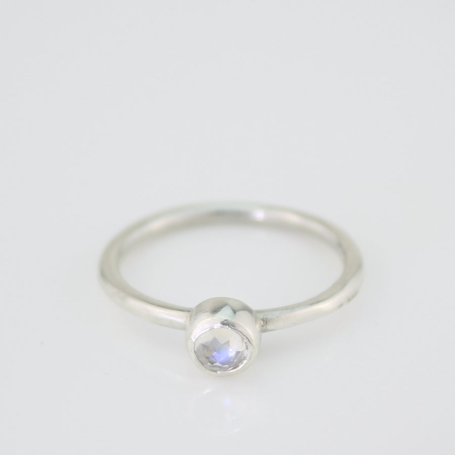 Image of Moonstone ring, silver moonstone ring, moonstone stacking ring