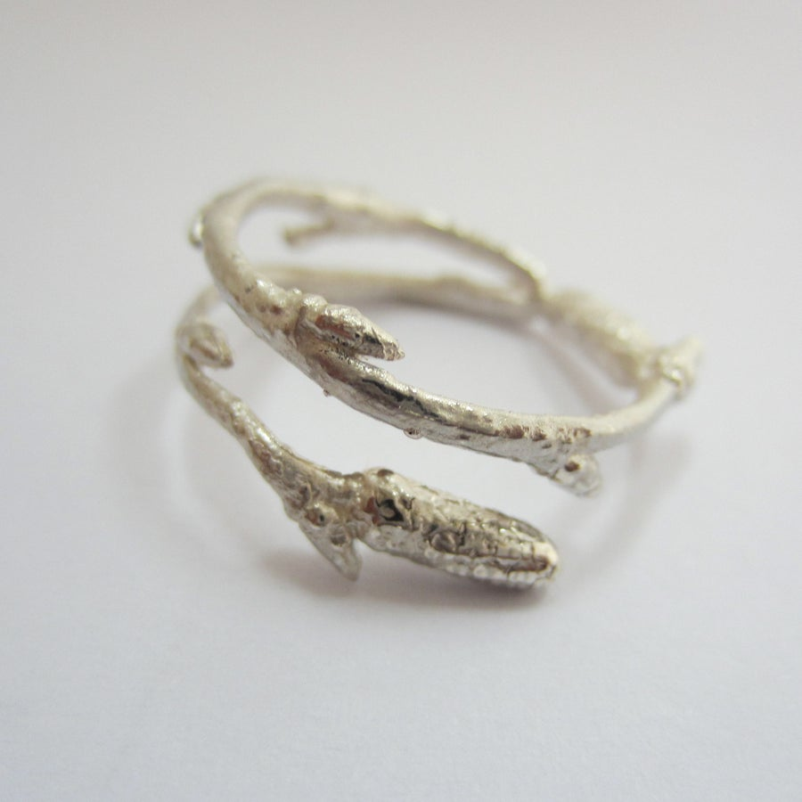 Image of silver twig ring, Arctic twig ring