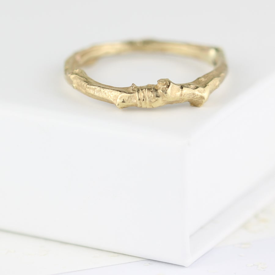 Image of Gold cherry tree twig ring