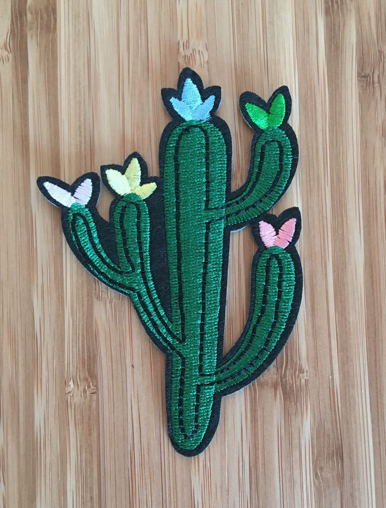 Image of Cactus Iron on Patch