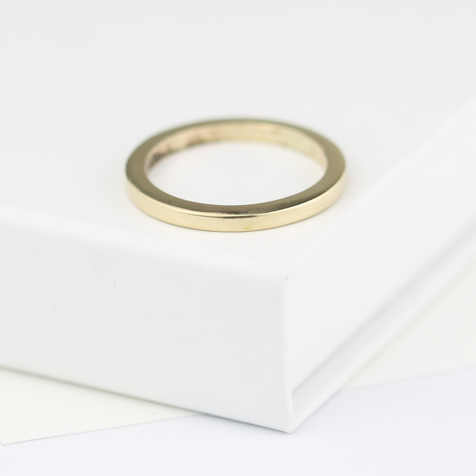 Gold Ring Beautifully Simple Wedding Ring 2mm Square Wedding Ring