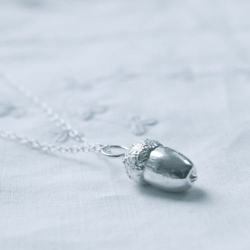 Image of Silver Acorn necklace