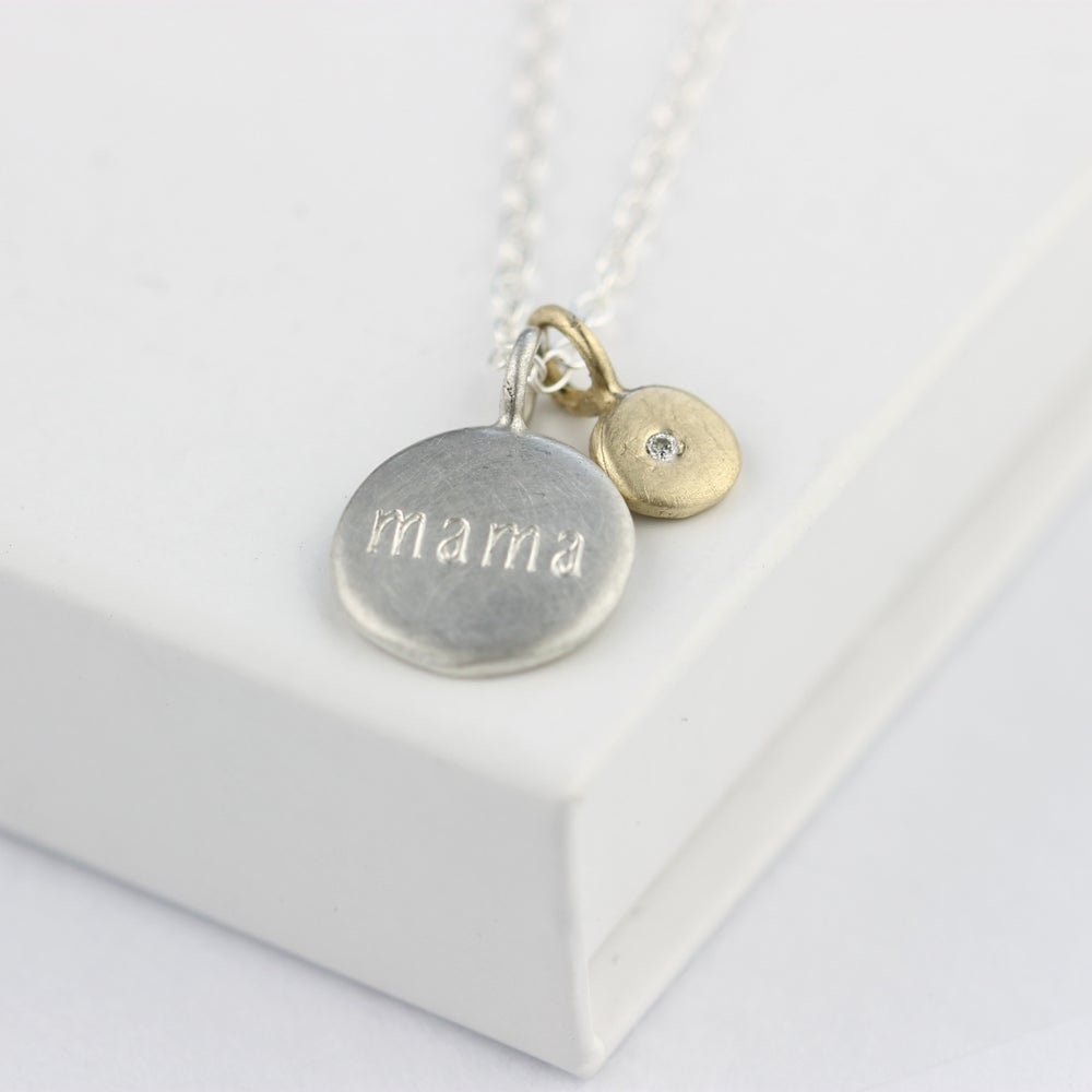 Image of personalised diamond necklace