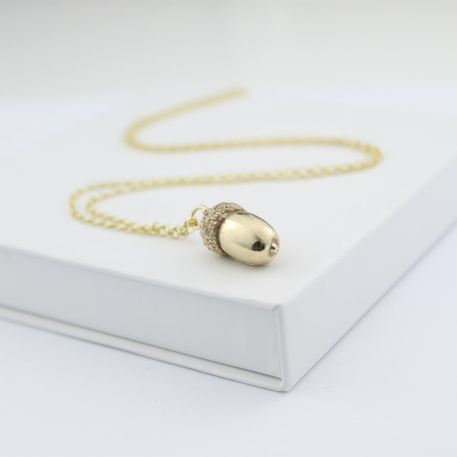 Image of 9ct Gold acorn necklace