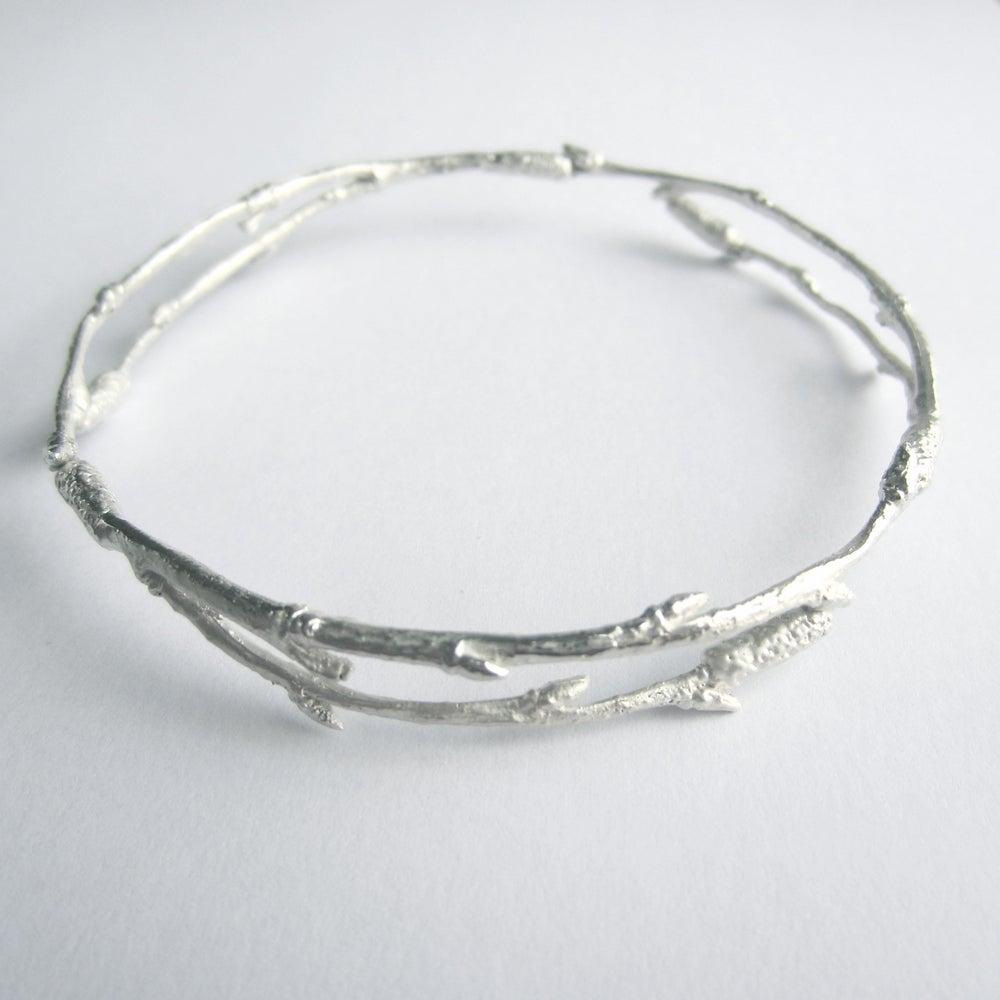 Image of Silver Arctic twig bangle