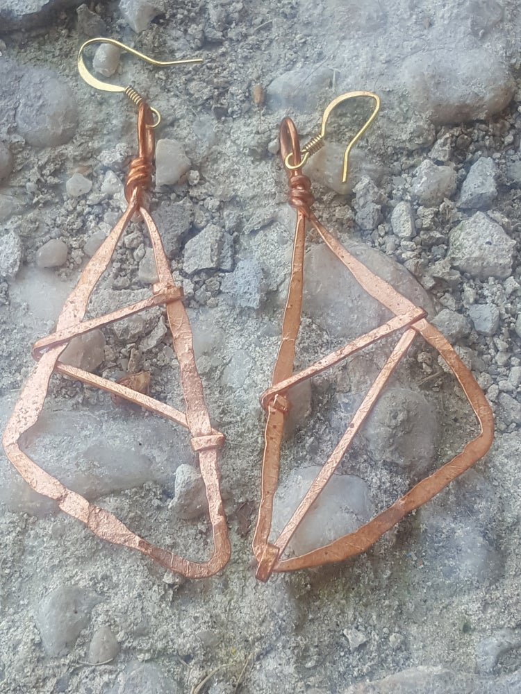 Image of Abstract Dreamcatcher Earring