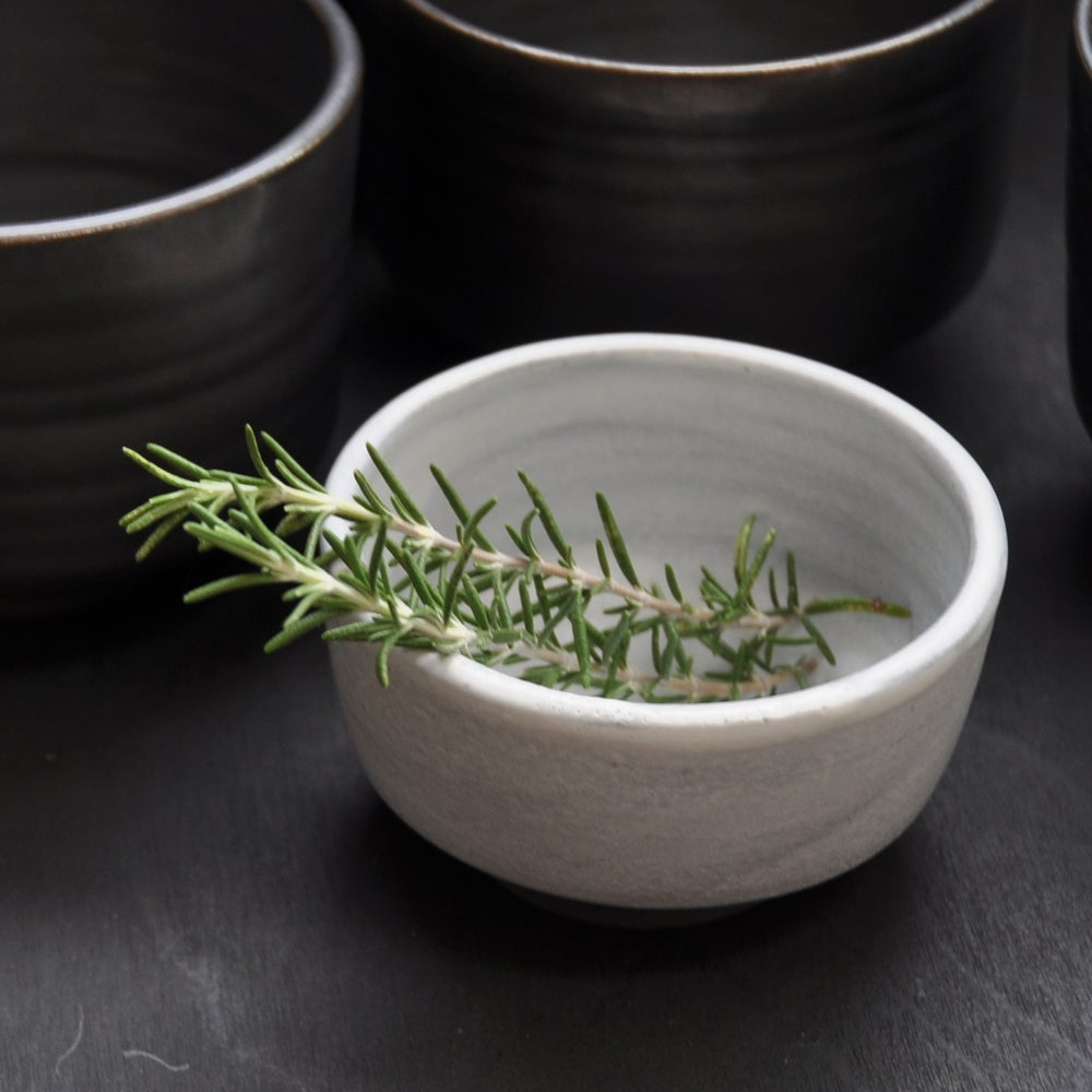 Image of Small Black & White Bowl