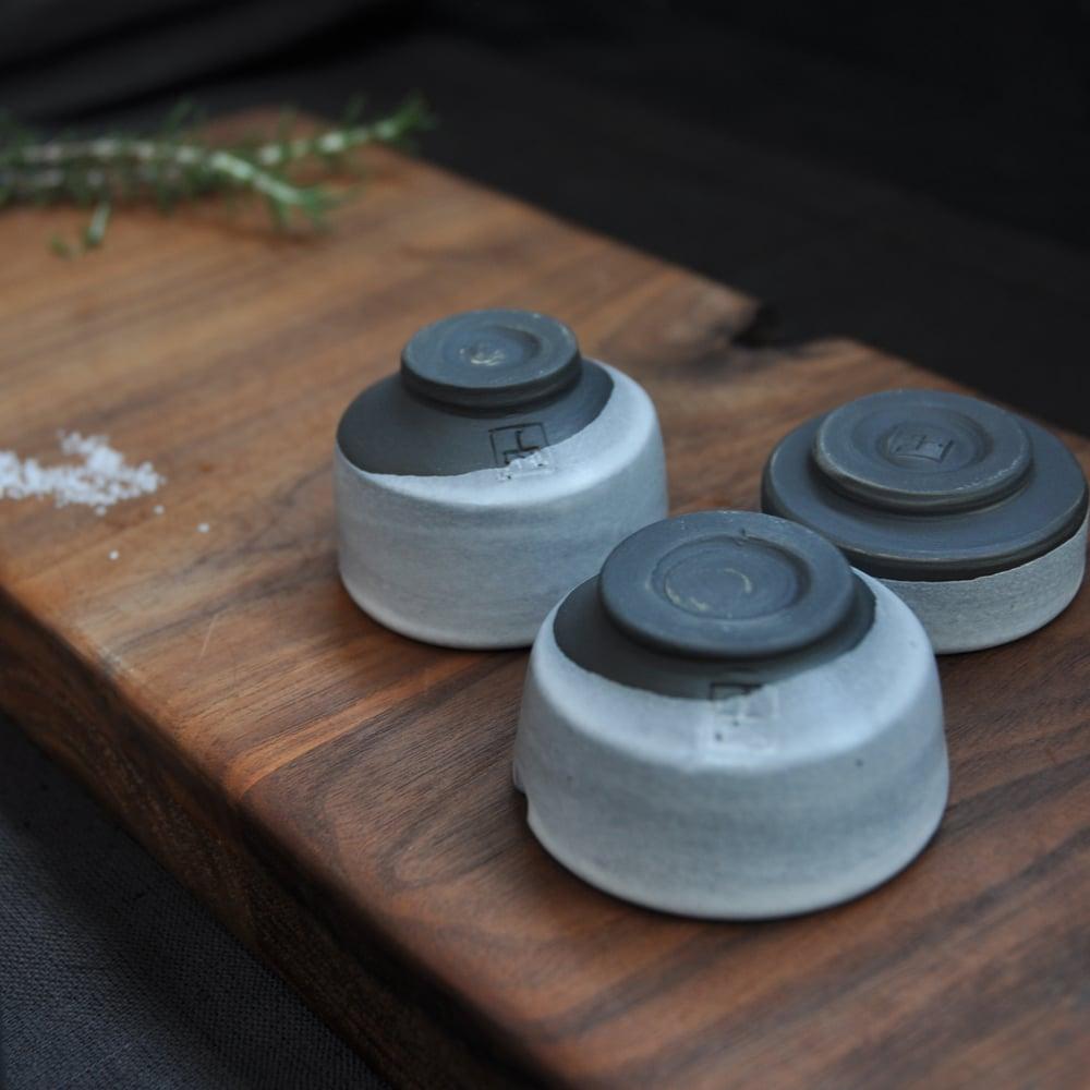 Image of Salt Cellar #3 w/ teak spoon
