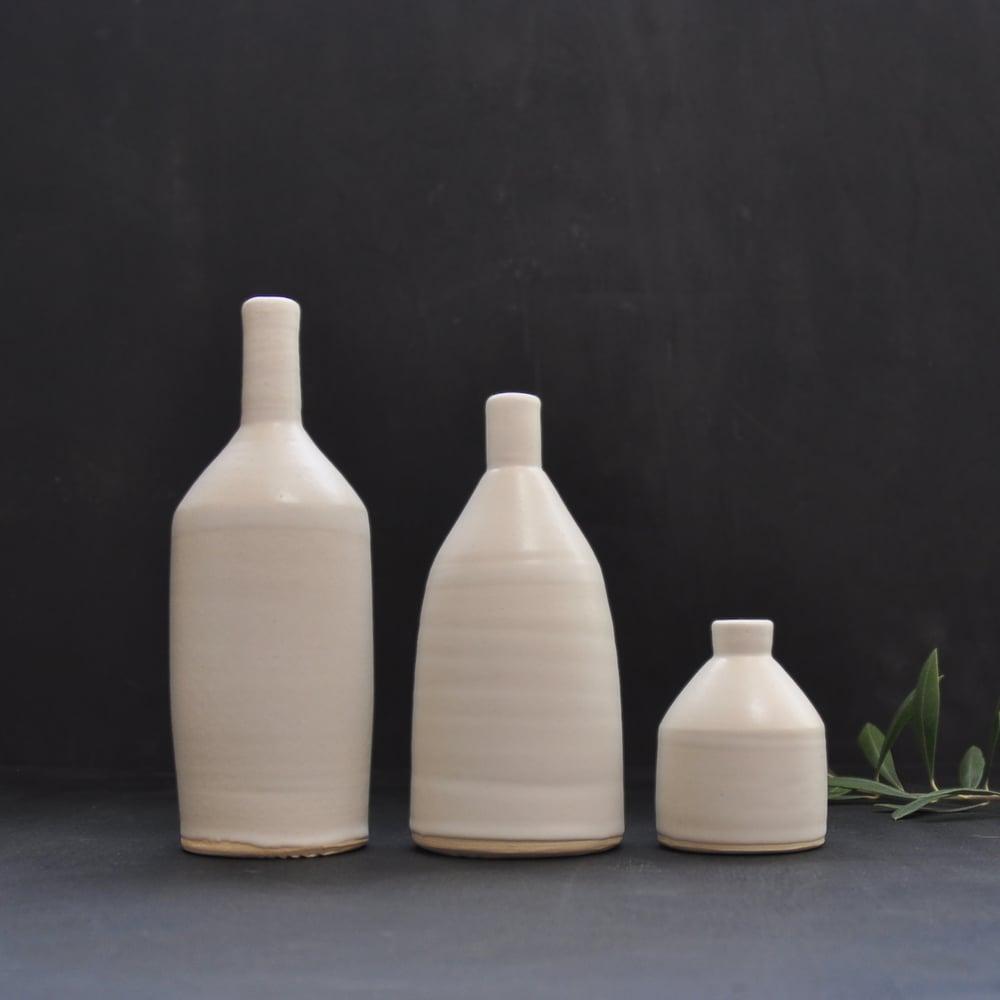 Image of 3 White Bottles (set)