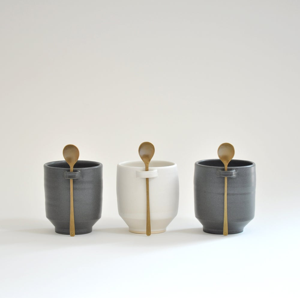 Image of Vessel + Spoon Set: Charcoal Loop