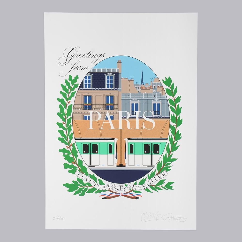 Image of Serigraphie Greetings from Paris