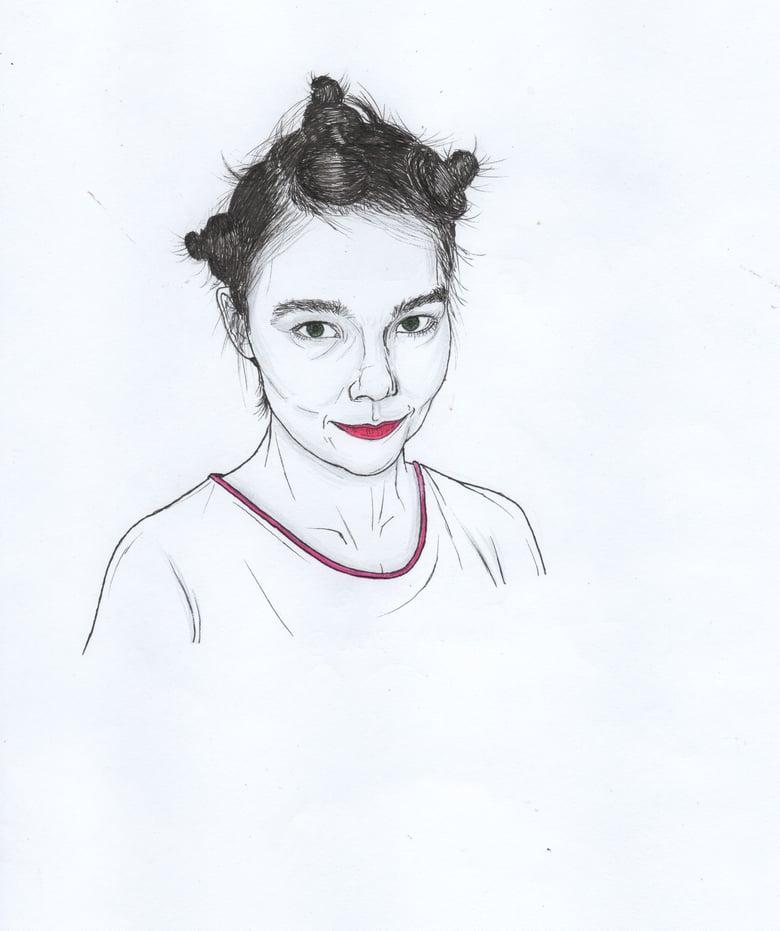 Image of bjork original portrait