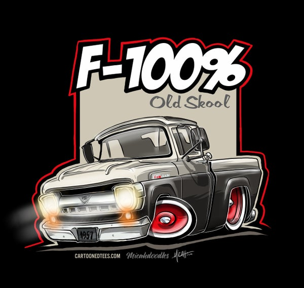 Image of '57 F100% Fleetside Black & White