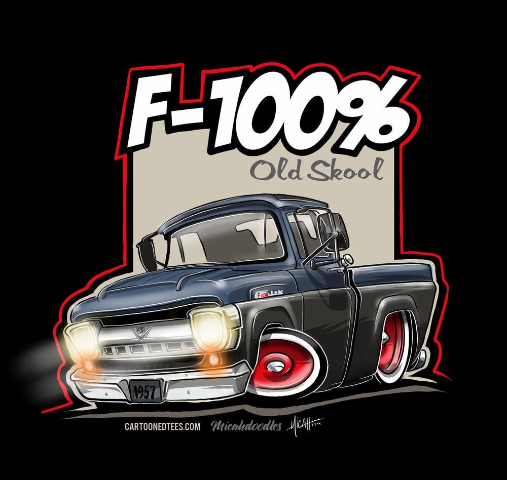 Image of '57 F100% Fleetside Blue & Black