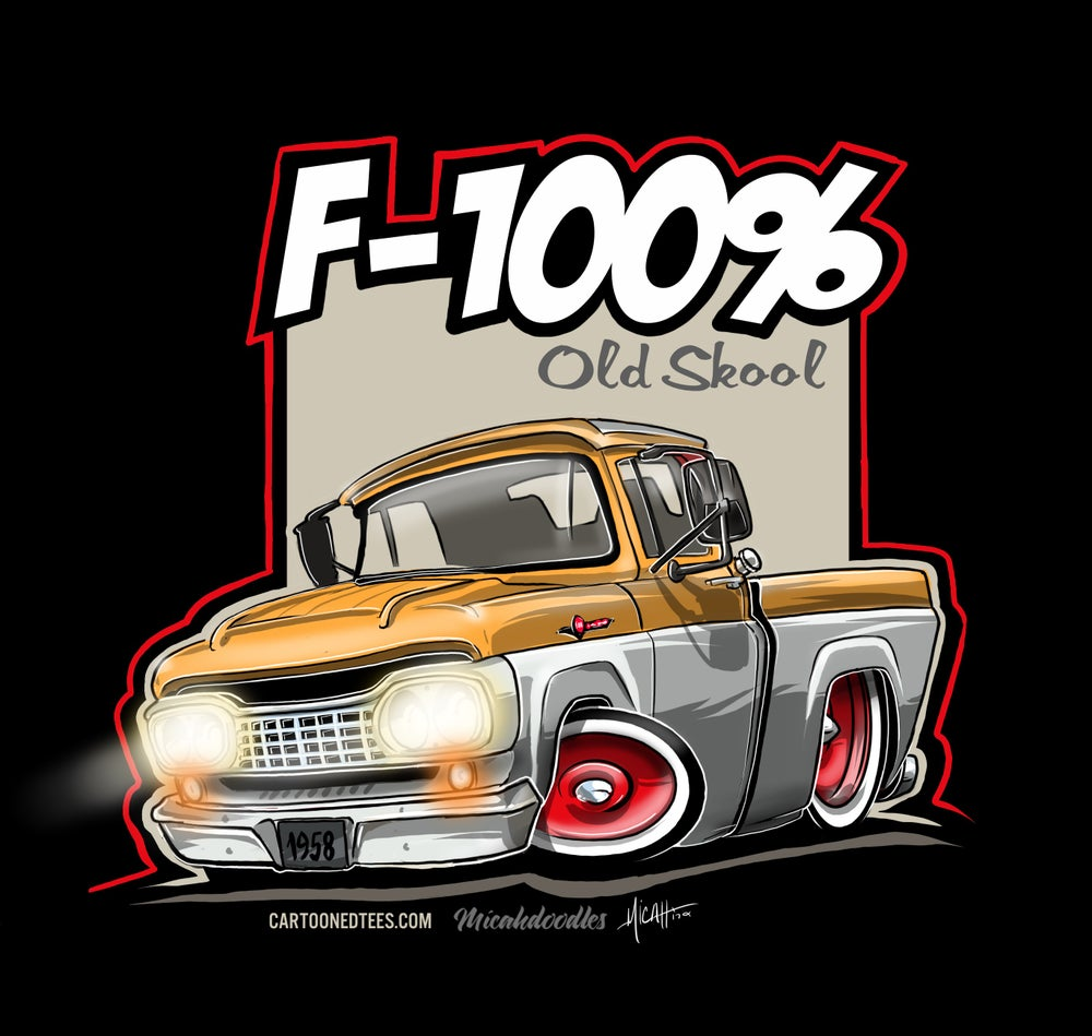 Image of '58 F100% Fleetside Yellow & White