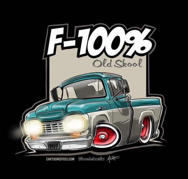 Image of '59 F100% Fleetside Aqua & White