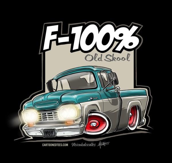 Image of '59 F100% Fleetside Aqua & White