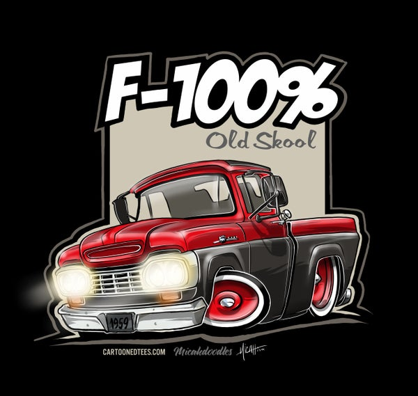 Image of '59 F100% Fleetside Red & Black